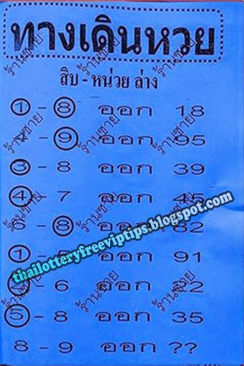 thai lottery down 100% sure single 01-10-2014