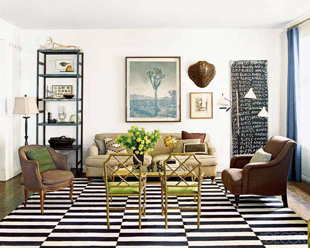 Nate Berkus living room Chippendale chairs