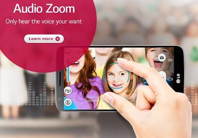 Fitur Audio Zoom Camera LG G2