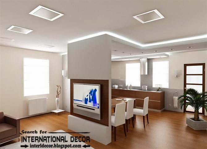 plasterboard ceiling, false ceiling designs in the interior ceiling led hidden lighting