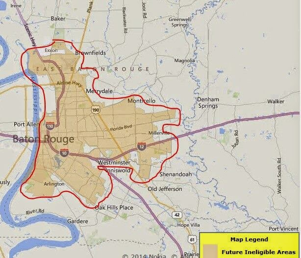 Coming soon portions of east baton rouge now qualify f for Usda rural development louisiana
