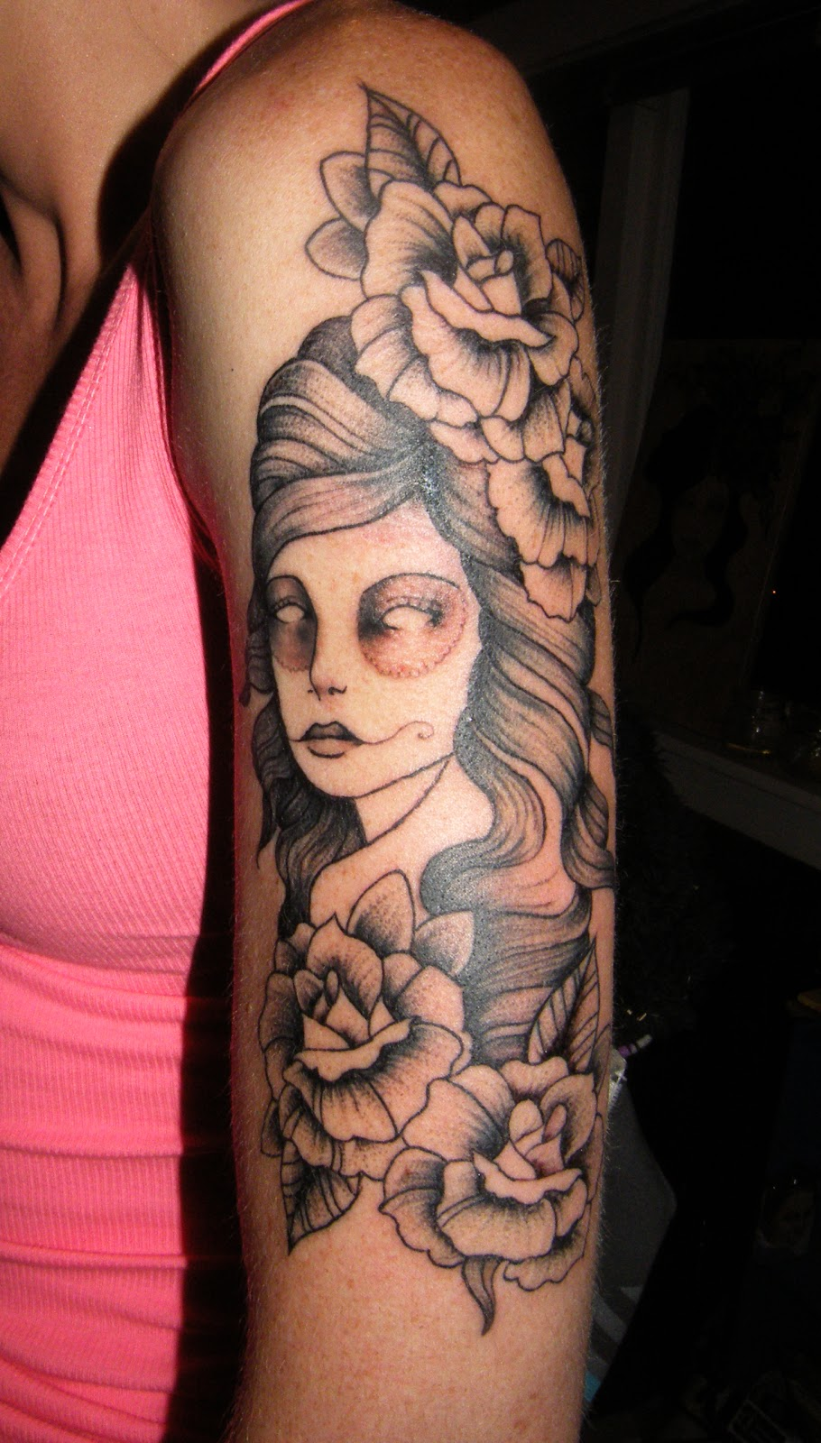 Girl with Arm Tattoo