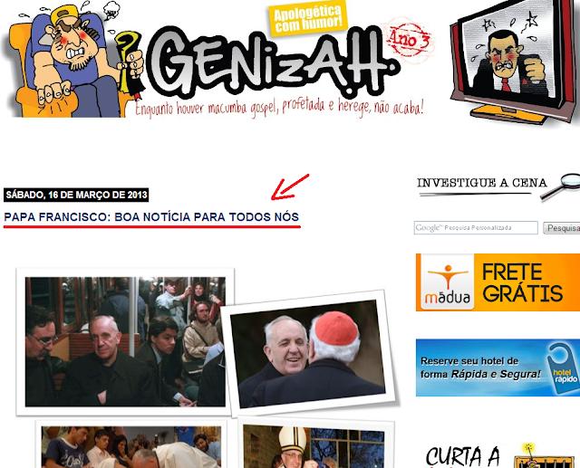 Alerta: Quais são as intenções do blog 'Genizah'?
