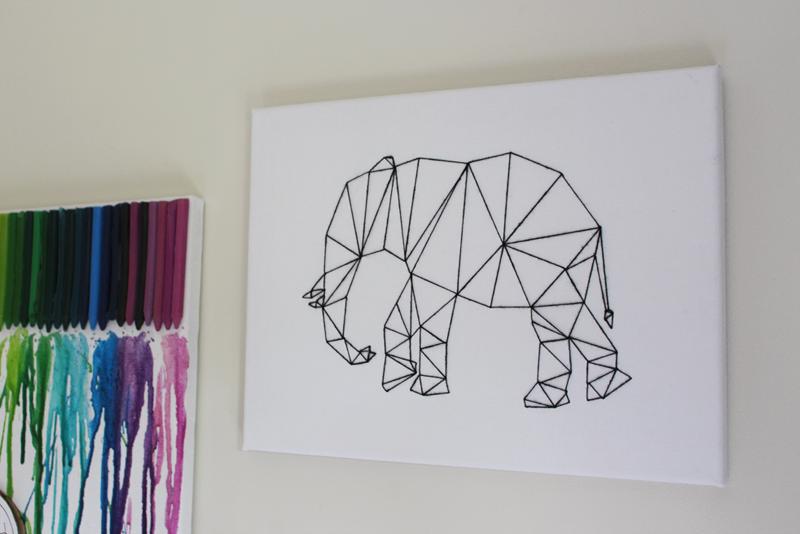 Camis cushions diy project geometric animal wall art for Geometric wall art diy