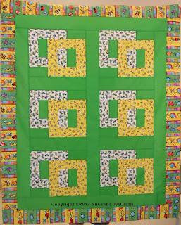 Squares Afloat quilt top - Jodie