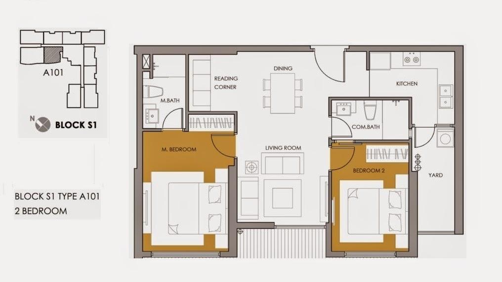 mặt bằng căn hộ S11508 diện tích 67.6m2 tòa S1
