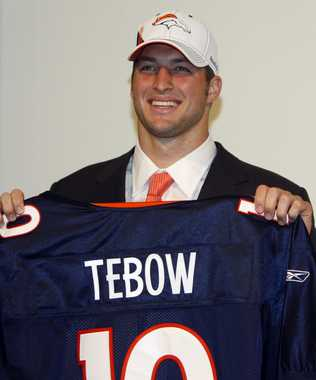 Tebow chosen in the first round...