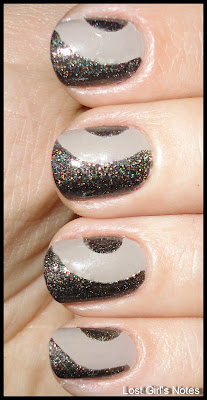 side half moon manicure