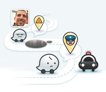 applicazione navigatore GPS social
