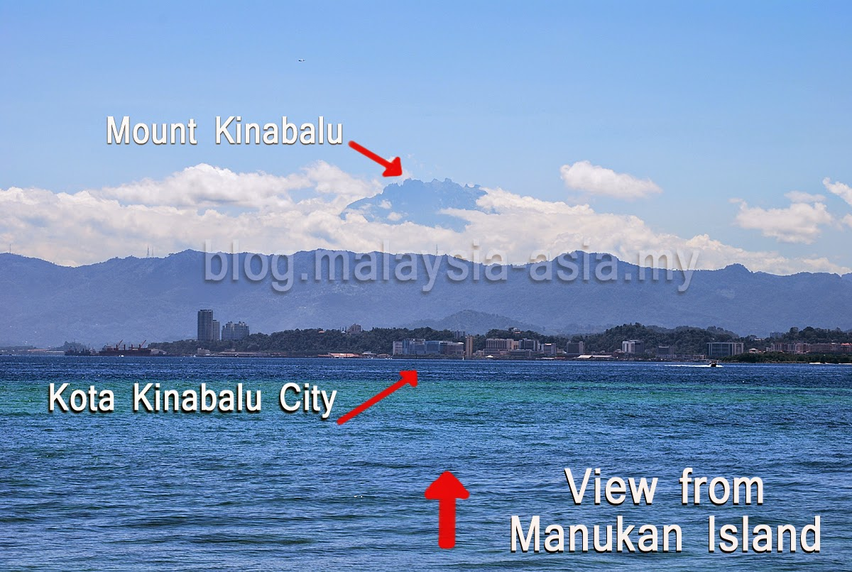 Manukan Island View of Mount Kinabalu