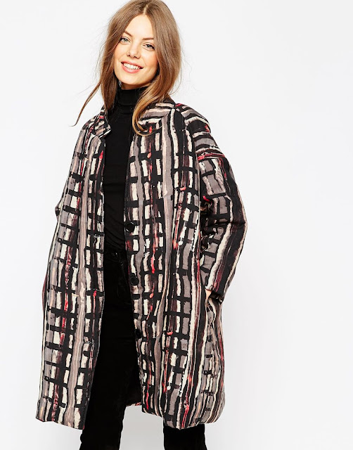 asos africa patterned coat,