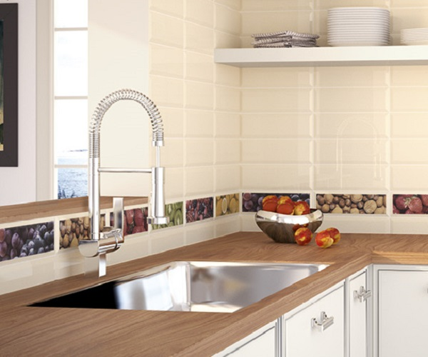 cocinas de concreto y azulejo modernas