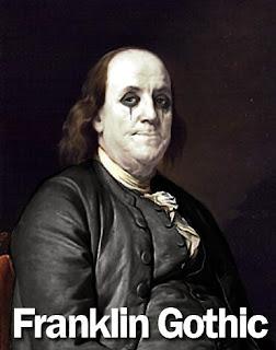 Franklin Gothic.