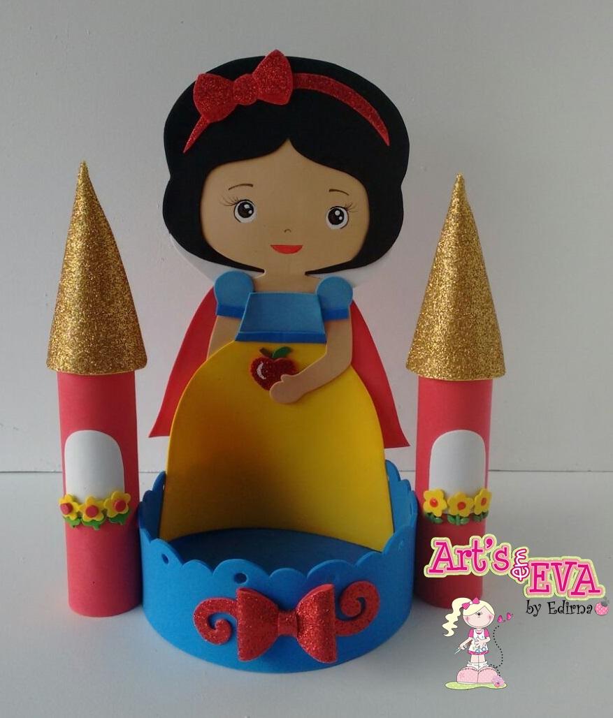 Famosos ♥ Ateliê by Edirna ♥: centro de mesa princesas em eva GU13