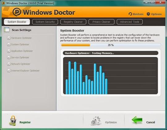 برنامج Windows Doctor لتسريع الويندوز وحمايتة من الاختراق