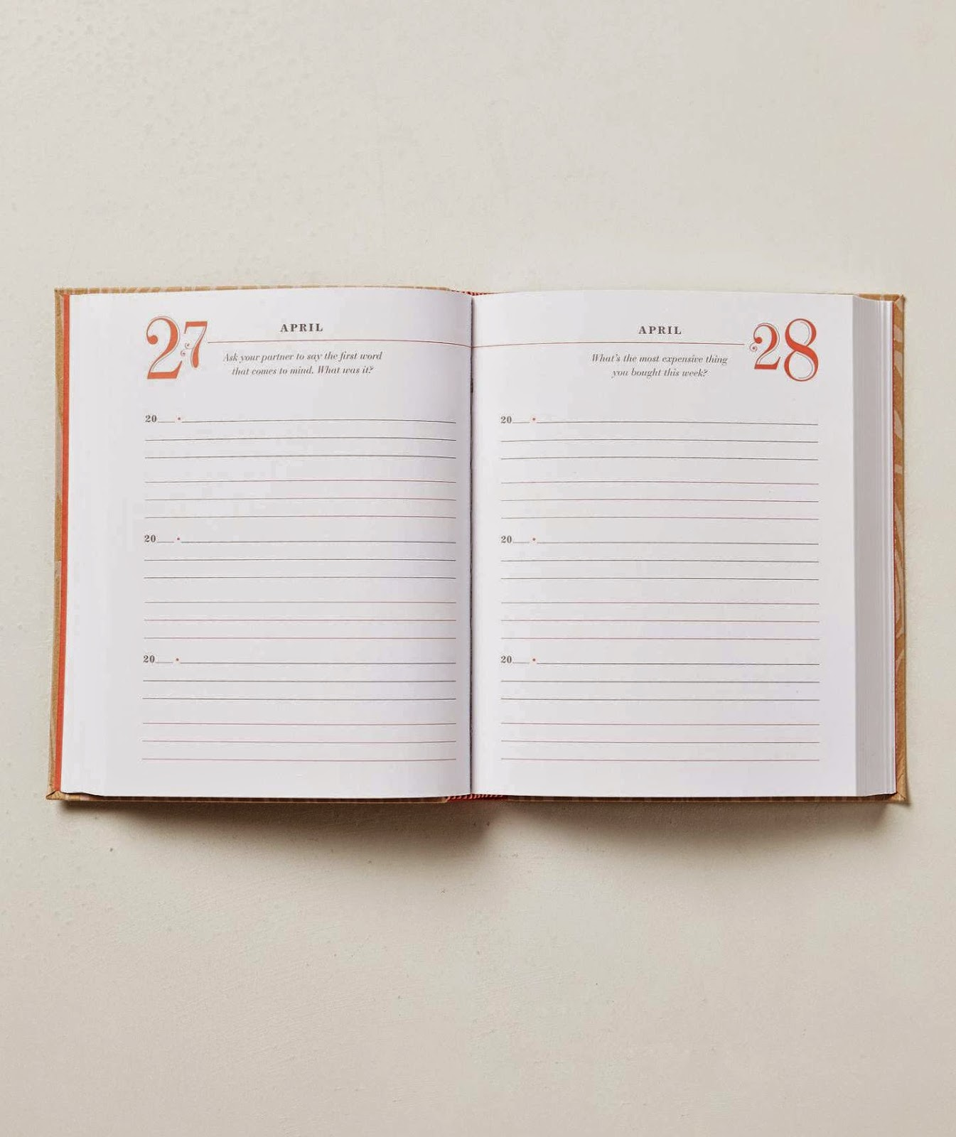 A 3 year journal for you and your other half!