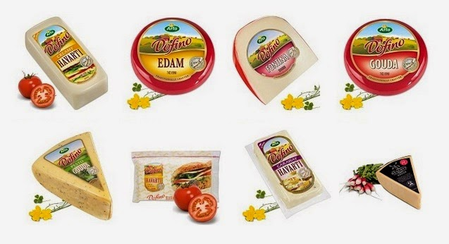 Arla Dofino cheeses