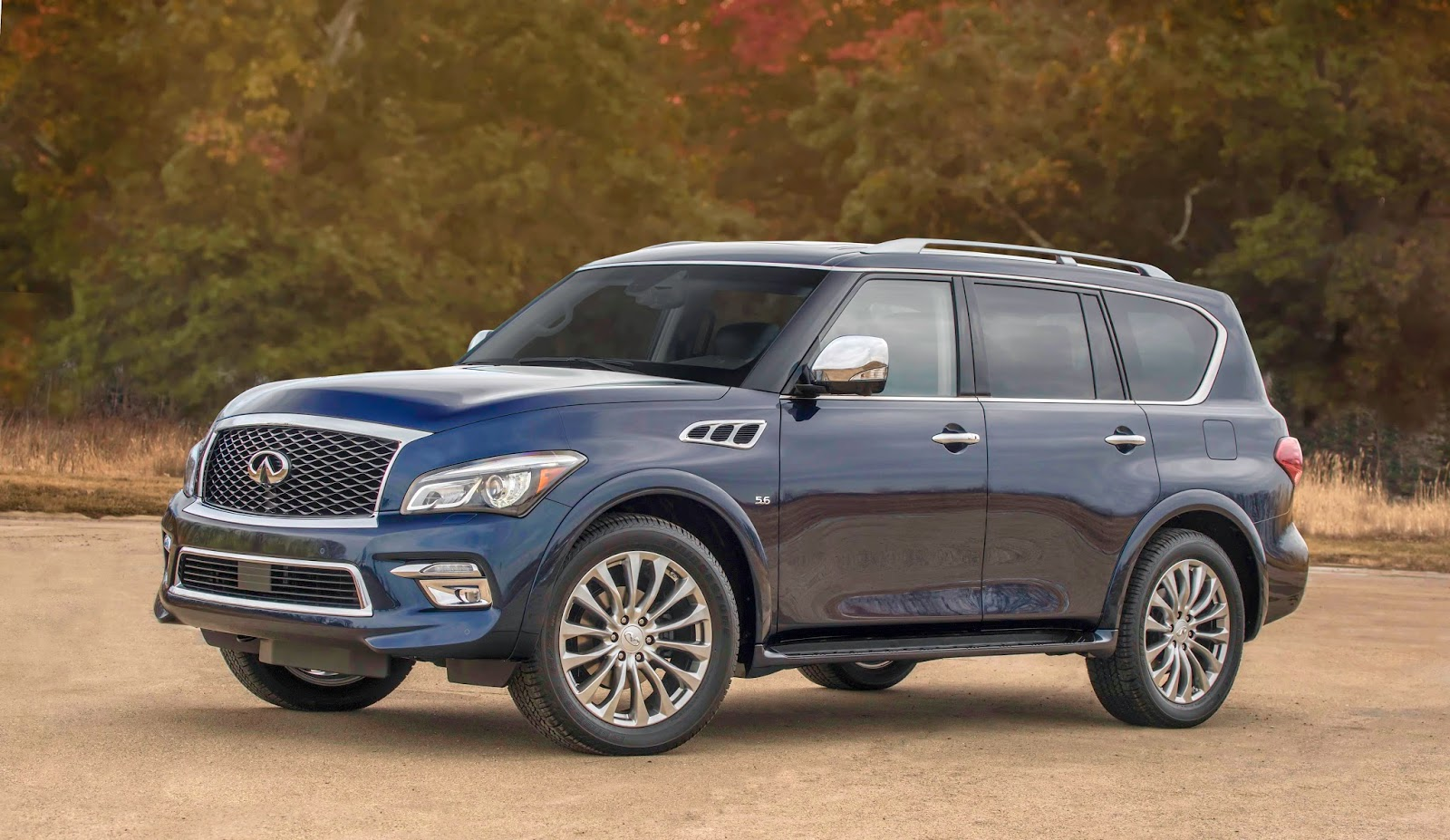 Feel the power in the upscale Infiniti QX80 sport-ute