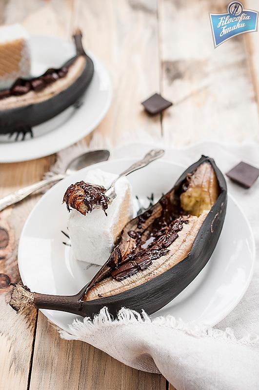 Zapiekane banany z czekoladą