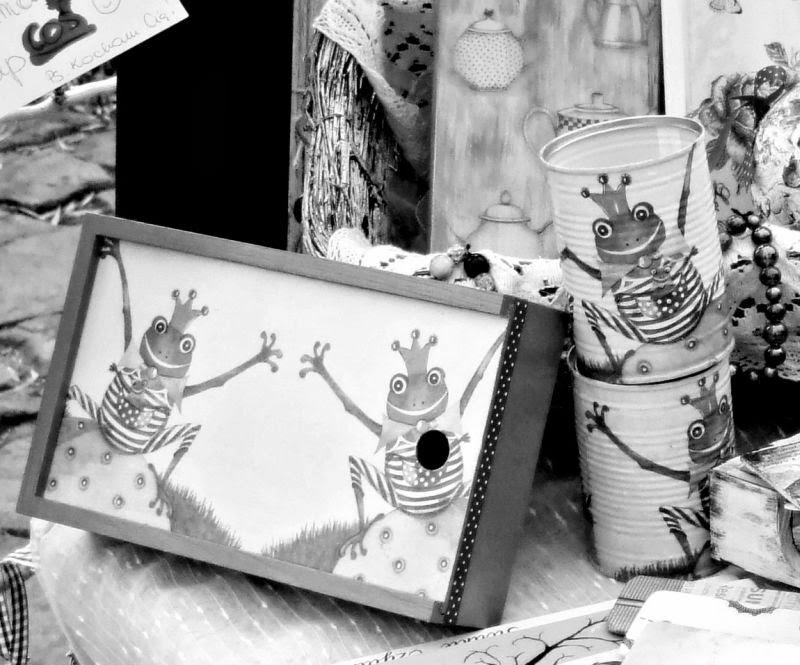 Anioł w Miasteczku Lanckorona 2013 Eco Manufaktura pracownia decoupage