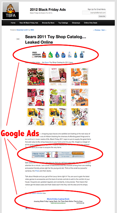 Best Adsense Ad Article Website Position Placement.