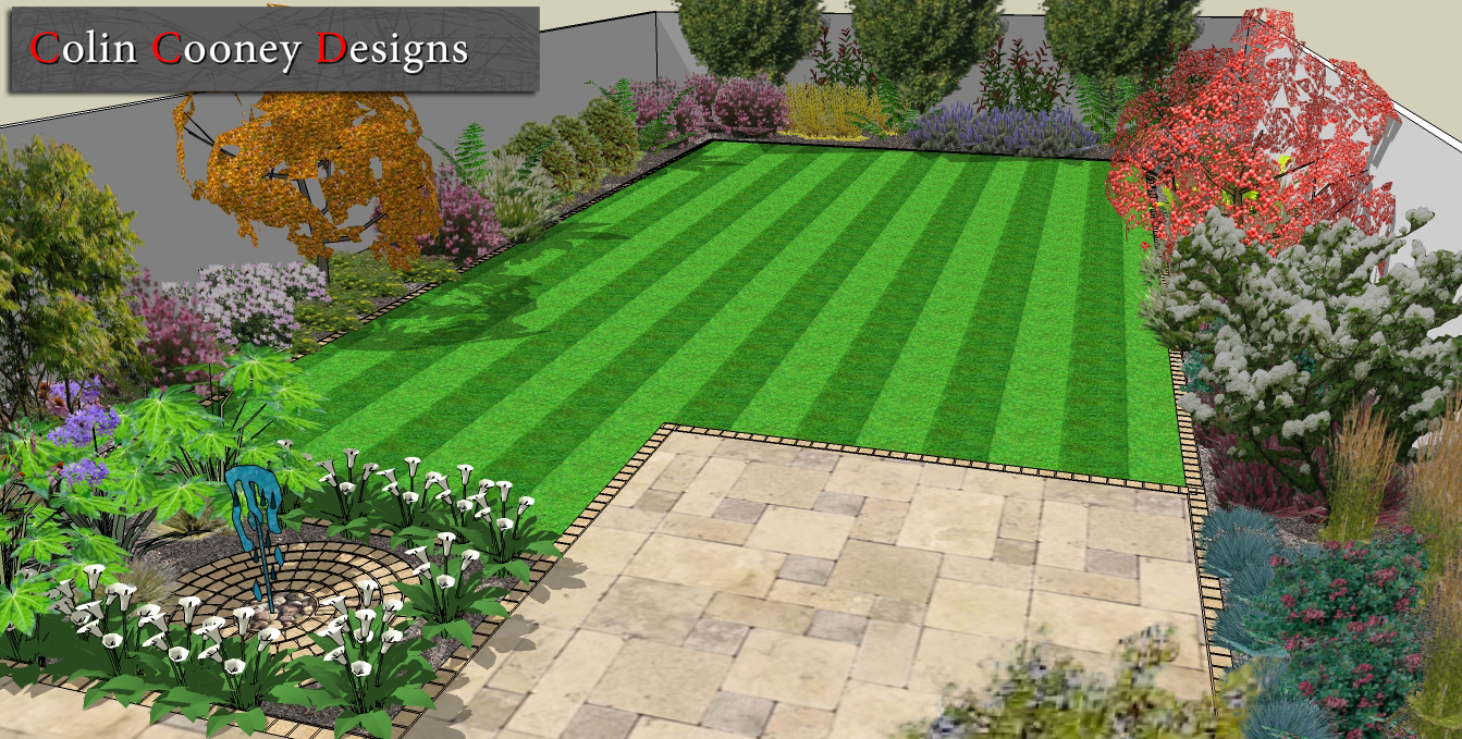 Moved permanently for Garden design ideas for medium gardens