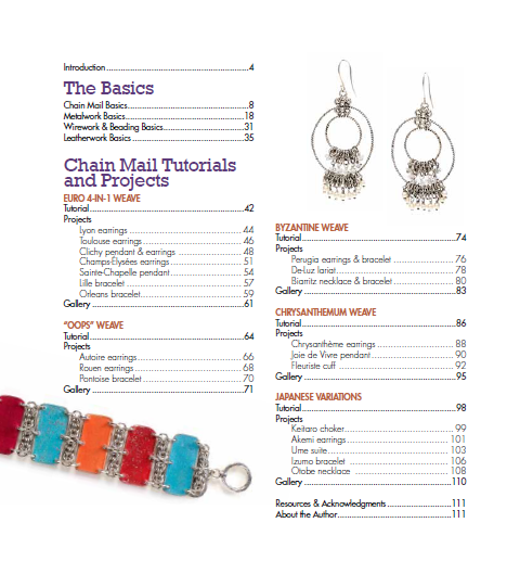 Book review unconventional chain mail jewelry
