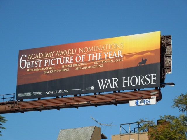 War Horse Oscar billboard