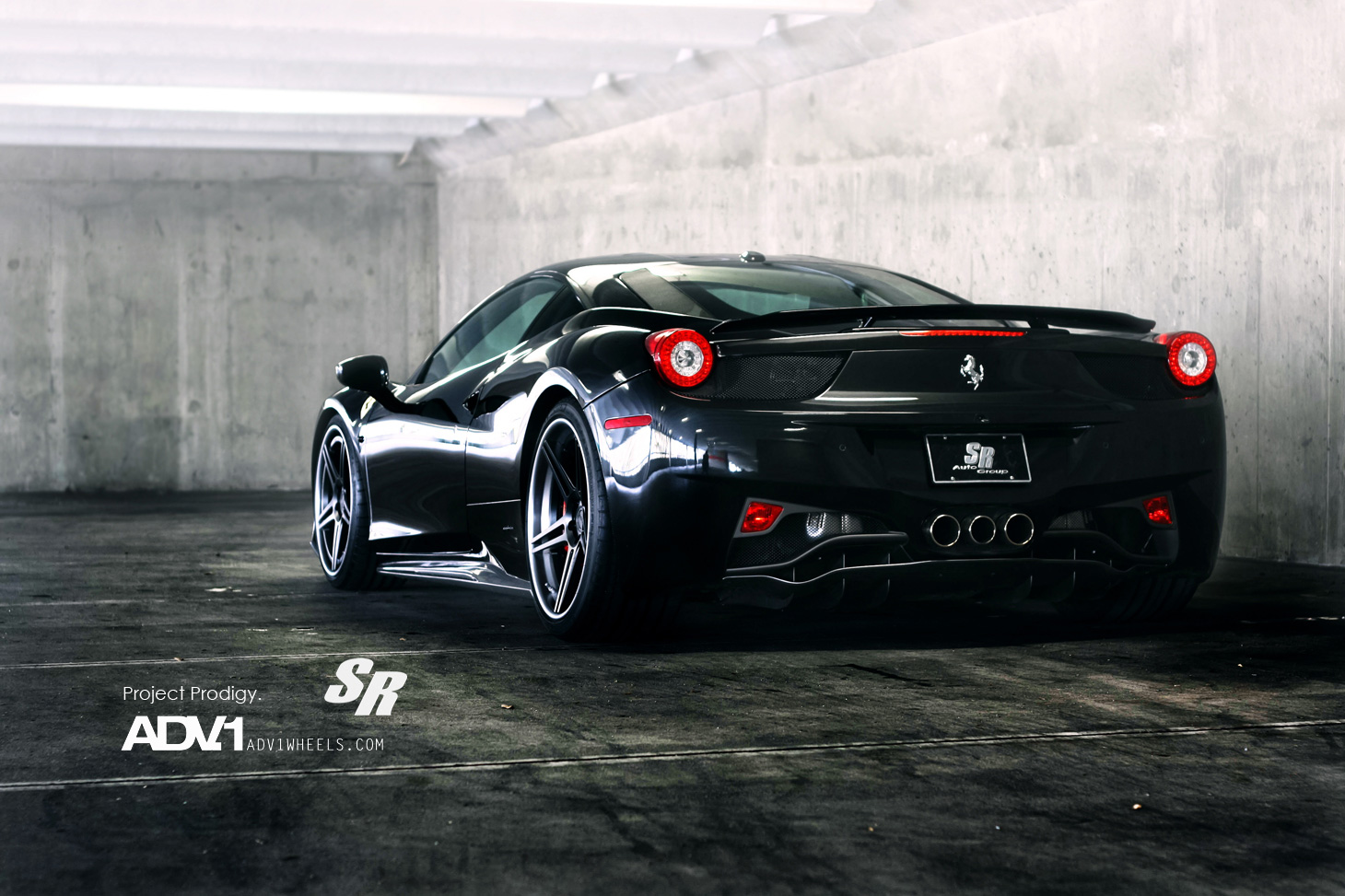 Luxury Cars: Ferrari 458 italia Black Wallpapers