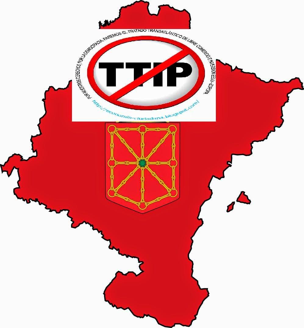 Intervención en el Parlamento Navarro del colectivo contra el Acuerdo de Comercio e Inversiones TTIP