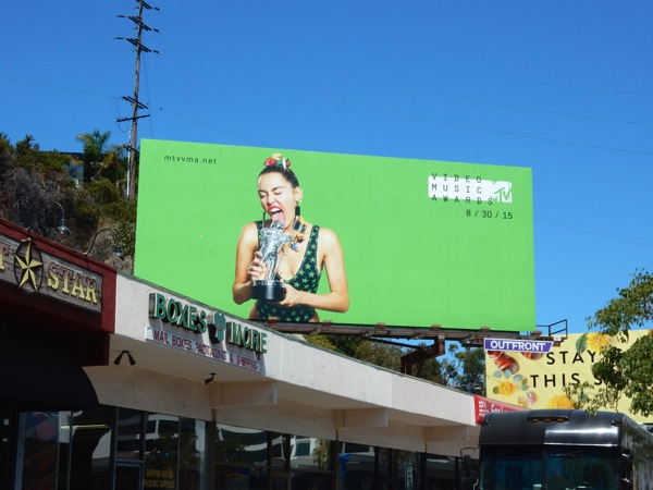 Miley Cyrus MTV VMA billboard