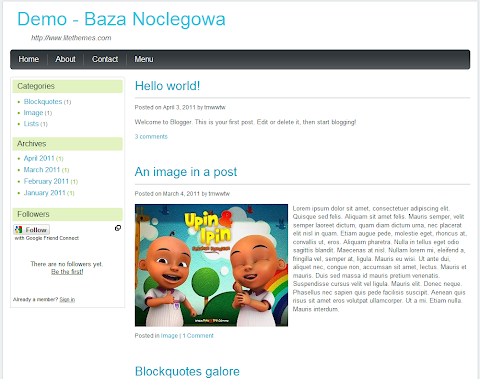 Baza Noclegowa Blogger Theme