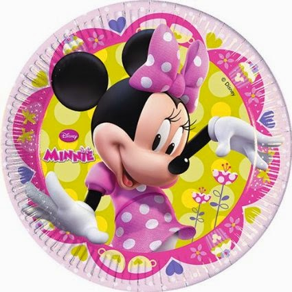 Buy Disney Minnie Mouse Party Plates Birthday Paper Plate Cups Banner Candles Caps Online India At Hobbyplanetin Best Prices