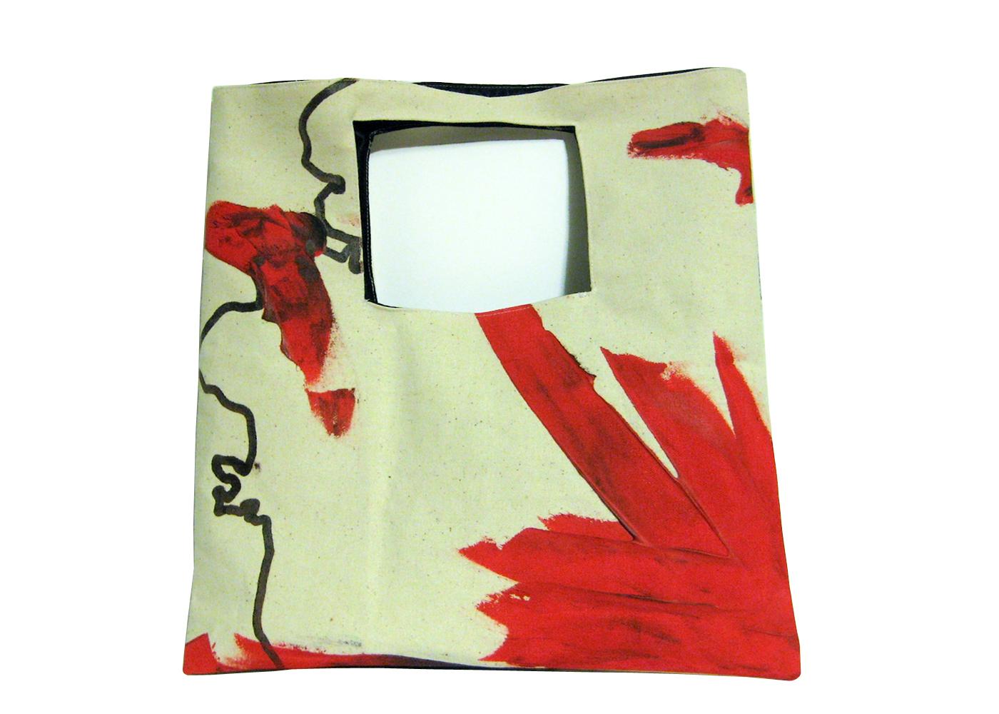 Oso dise o de carteras tipo bolso pintadas a mano en for Disenos de bolsos de tela