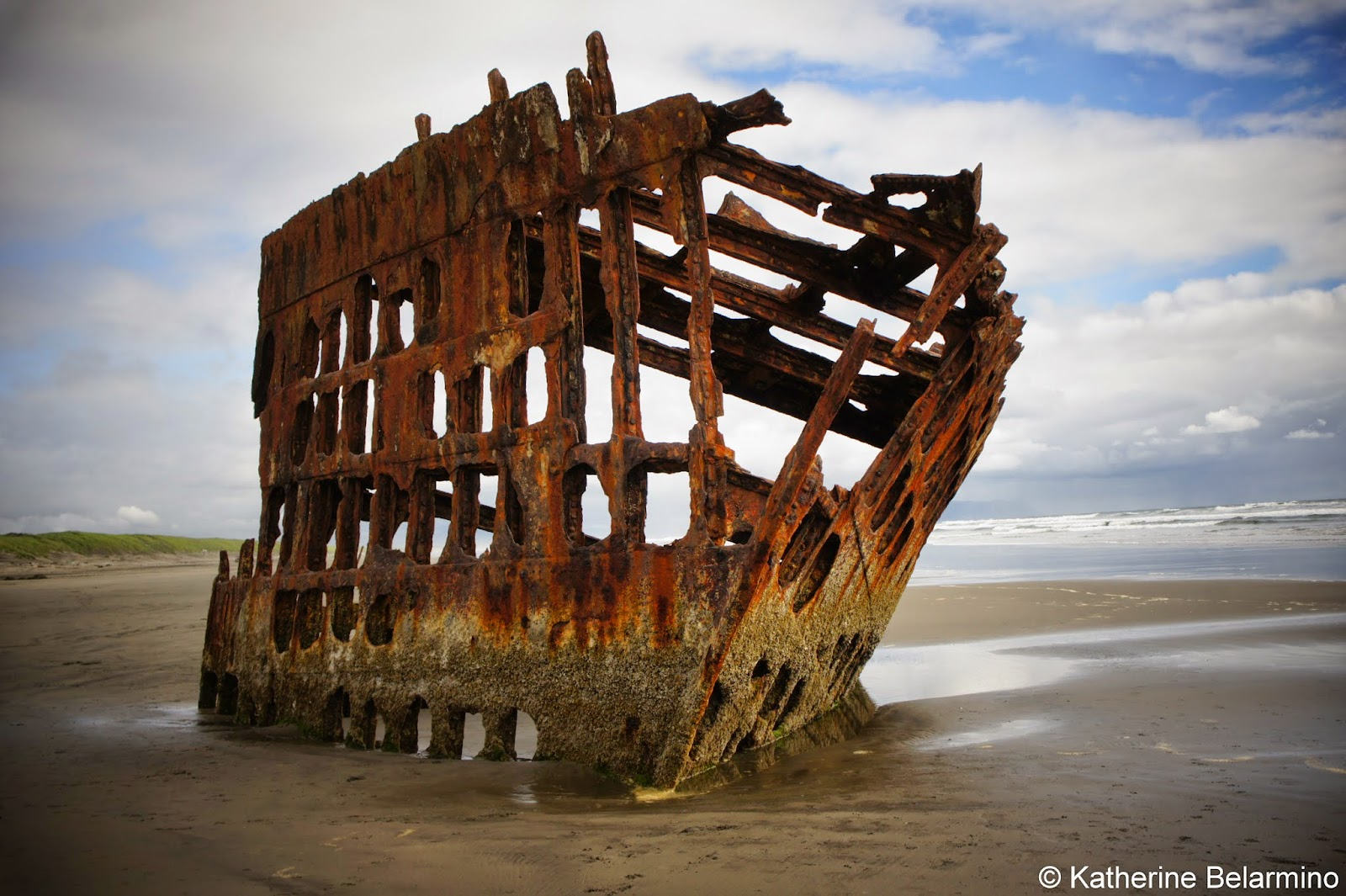 Peter Iredale Shipwreck Outside Astoria Oregon