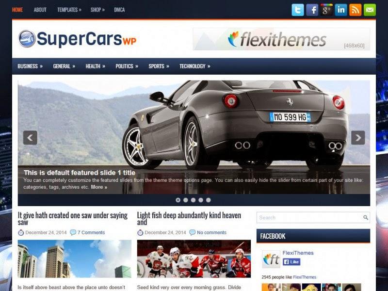 SuperCarsWp - Free Wordpress Theme
