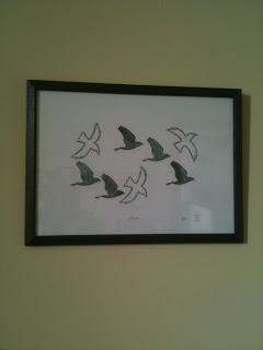Framed Flock print