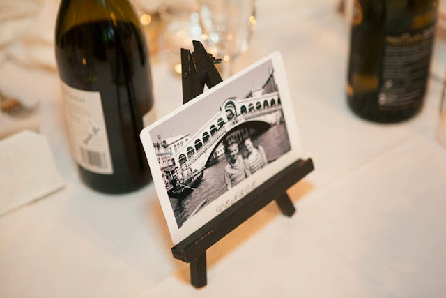 Wedding postcard table names - on our wedding day