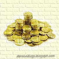 Tumpukan coin emas