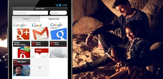 Opera Mini Web Browser for Android phone & tablets & iOS phones & iPads