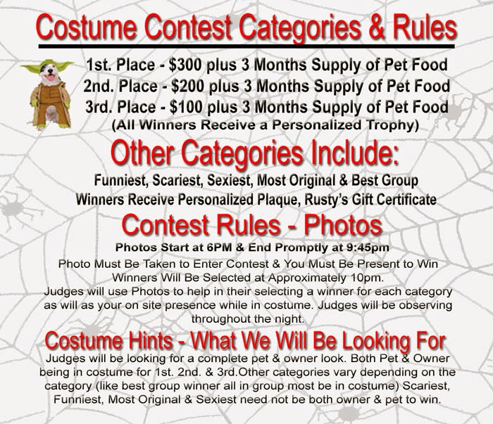 Costume Contest at Rusty's Halloween Party!