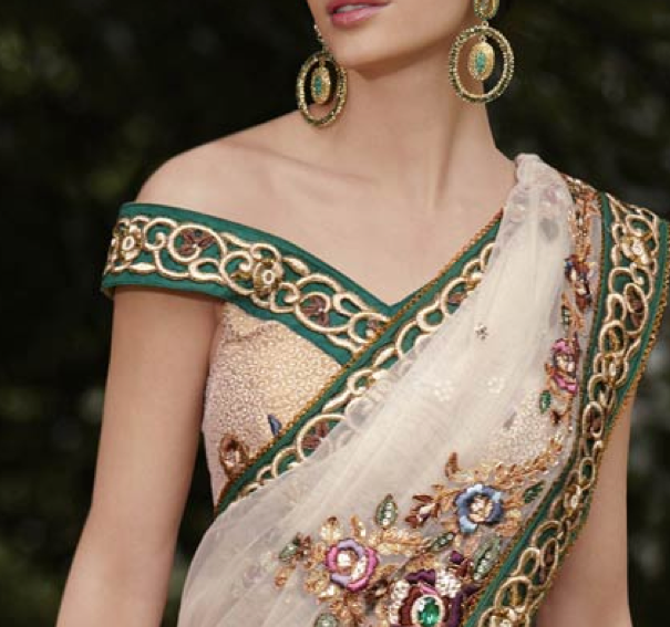 party wear printed saree