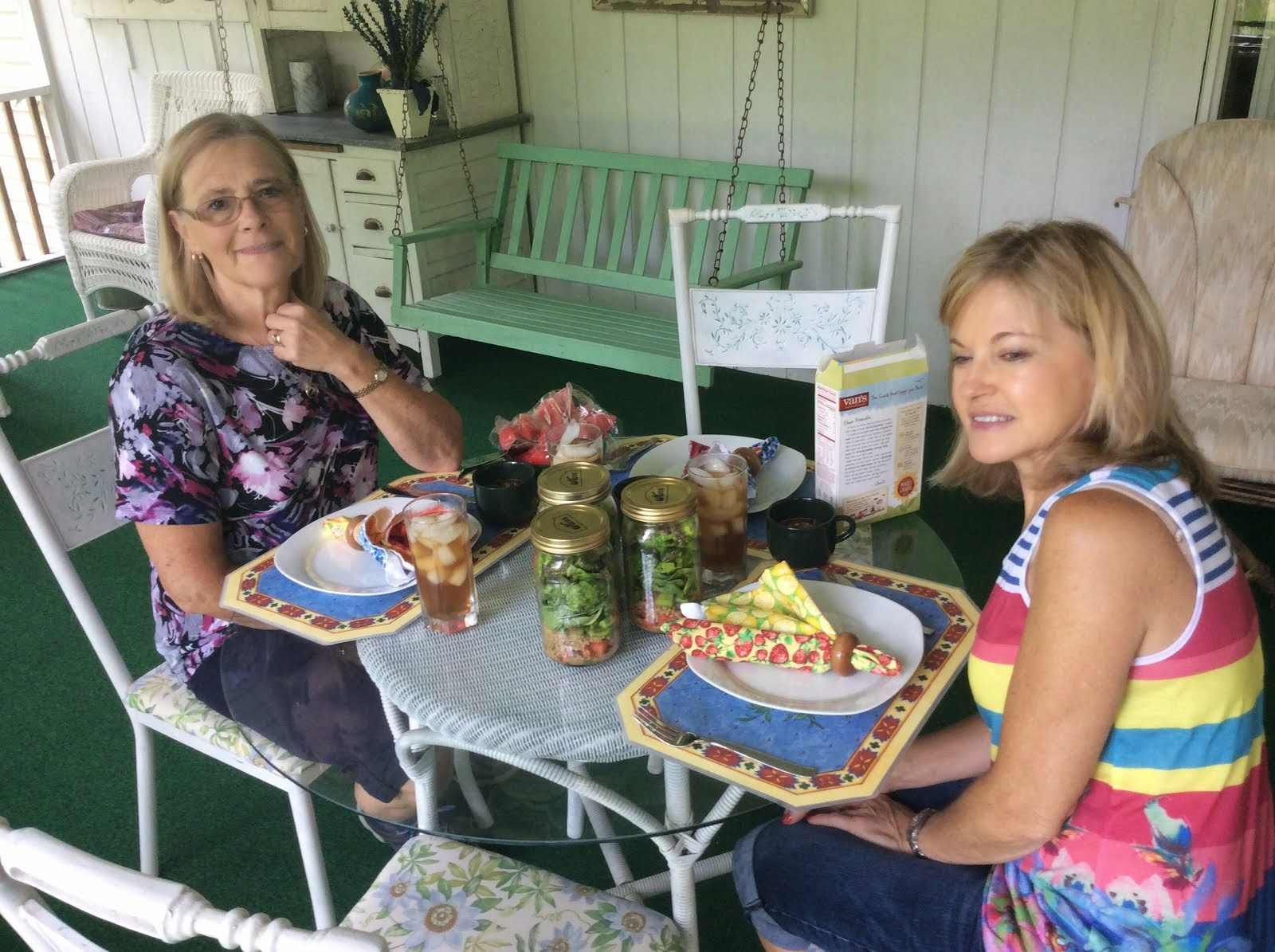 Lunch at Cheryl's with Cindy