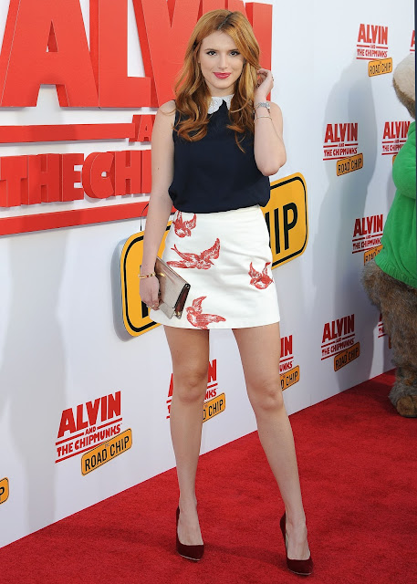 Actress, Singer, Model, @ Bella Thorne - ''Alvin and The Chipmunks: The Road Trip'' screening in Los Angeles