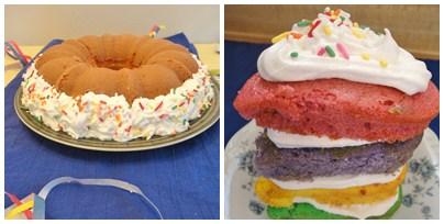 Rainbow Bundt Cake Layered Smash