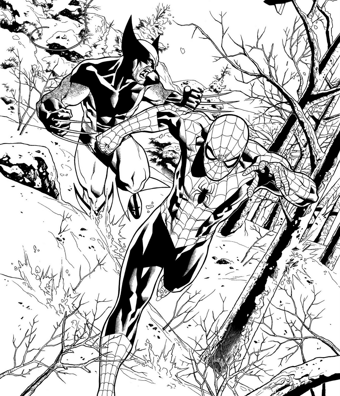 Black Spiderman Coloring Pages
