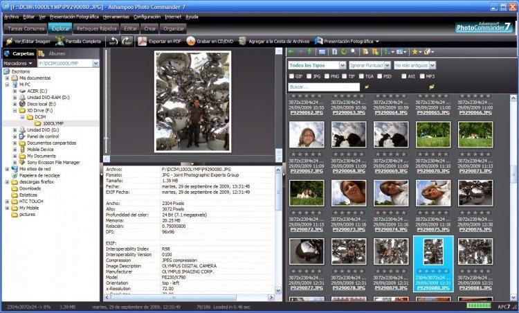 صورة من برنامج Ashampoo Photo Commander