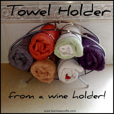 towel holder wine rack upcycle