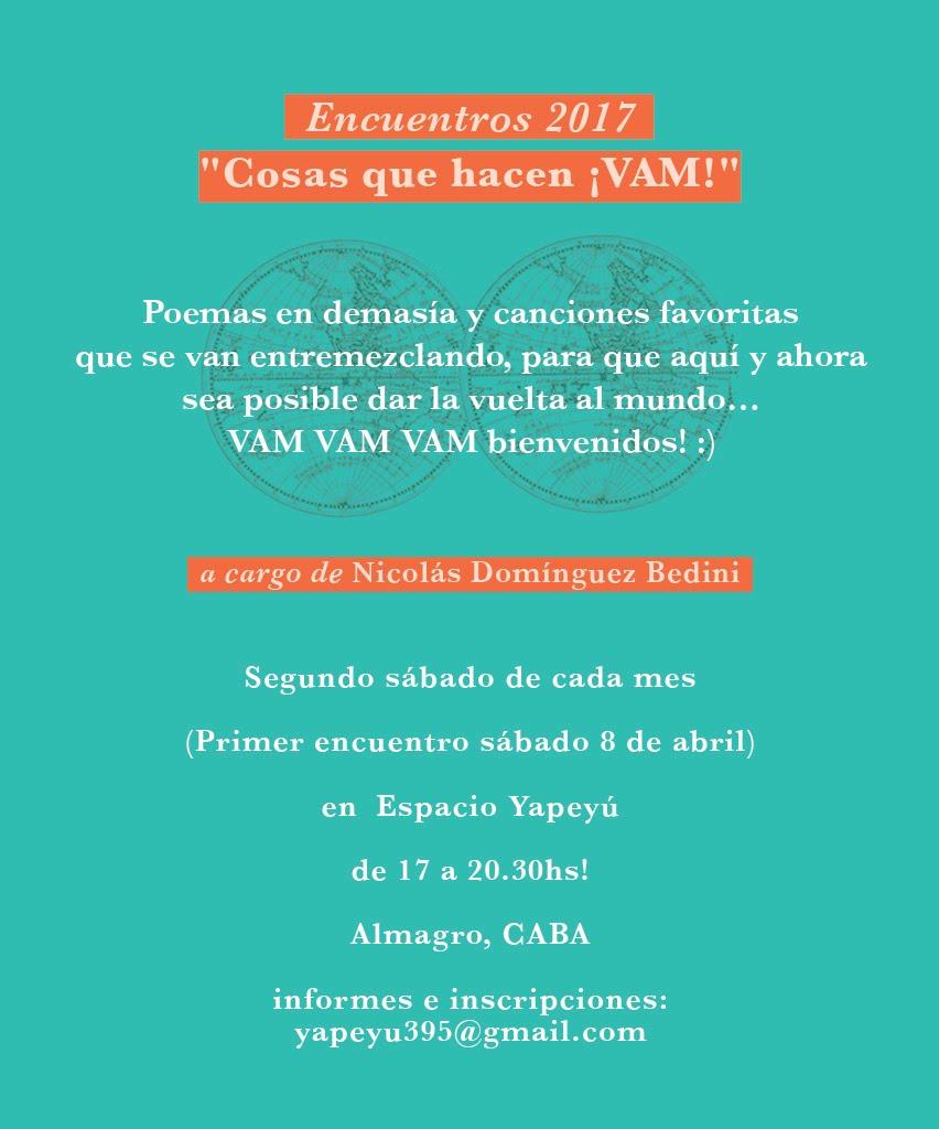 Encuentros ¡VAM! 2017 en Espacio Yapeyú, Almagro