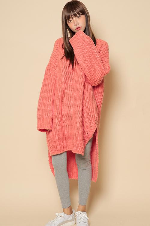 [Stylenanda] Oversized Dip Hem Sweater Dress | KSTYLICK - Latest Korean Fashion | K-Pop Styles ...